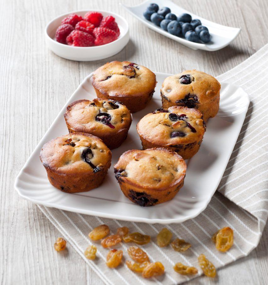 FunnyVegan Food Muffin ai mirtilli